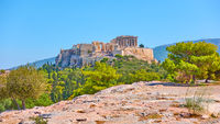 Panoramic view of the Acropolis in Athens