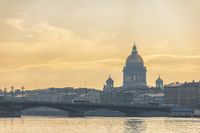Saint Petersburg Russia, city skyline at Saint Isaac Cathedral