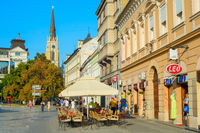 Street restaurant Novi Sad Serbia