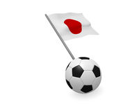Soccer ball with the flag of Japan