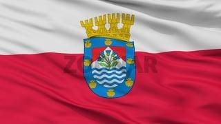 Renca City Flag, Chile, Closeup View