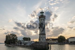 Leuchtturm in Lindau am Bodensee, Deutschland