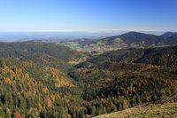 Blick auf bayerisches Dorf
