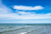 Buhnen an der Ostseeküste bei Ahrenshoop