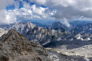 Reintal in Bavaria an einem bewölkten Tag