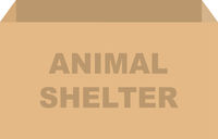 Animal Shelter Donation Box Vector