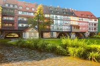 Bridge Kramerbrucke in Erfurt, Germany