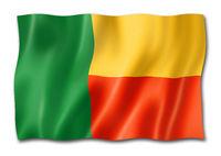 Benin flag isolated on white