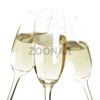 Toast together with sparkling wine or champagne and celebrate
