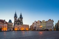 Old town square in Prague city, Czech Republic at night