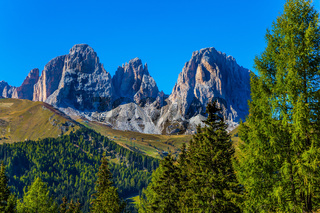 The route in the Italian Dolomites