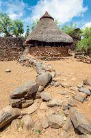 Konso tribe village in Karat Konso, Ethiopia