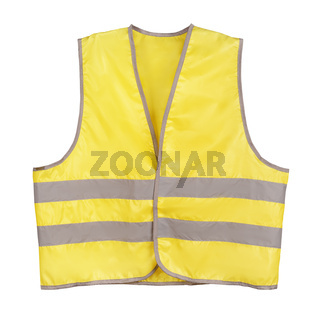 Front view of yellow safety vest