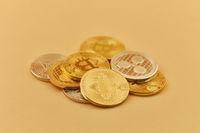 Kryptowährung Münzen als Haufen