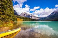 The mountain Emerald lake