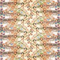 Stone Mosaic Collage Seamless Pattern