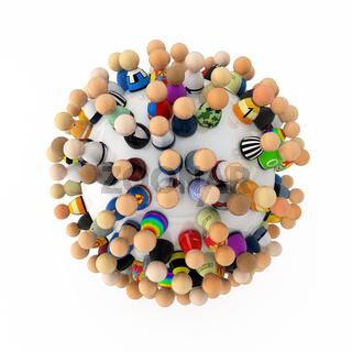 Cartoon Crowd, Sphere