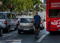 Radfahrer im Strassenverkehr