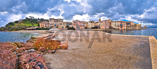 Scenic Saint Tropez waterfront panoramic view, famous tourist destination on Cote d Azur