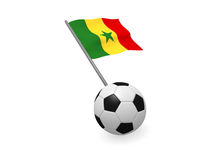 Soccer ball with the flag of Senegal