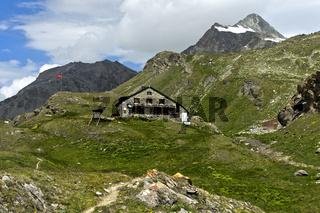 Schutzhütte Cabane de Chanrion des Schweizer Alpen-Clubs, Val de Bagnes, Wallis, Schweiz