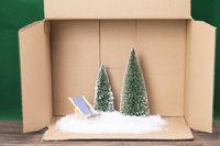 Winterurlaub aus dem Karton