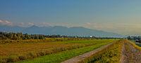 Alpenblick bei Fußach, Österreich