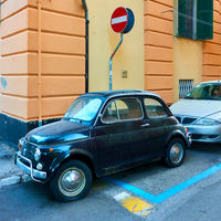 Classic car Fiat 600 in the street