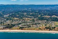 California Coast at the City of Aptos Aerial View