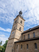 historic building in Bamberg Germany with clock