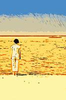 Die Frau am Meer