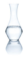A carafe with water on a white background