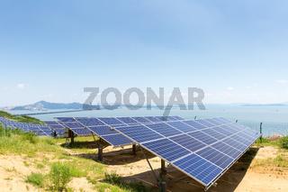 solar energy on lakeside