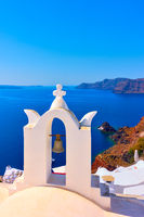Oia in Santorini island in Greece