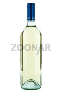 Weinflasche Wein Flasche Weißwein weiß weißer Weisswein freigestellt Freisteller