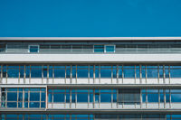 office building  top floor, window / glass facade -