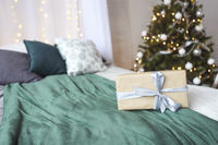 Christmas design of the bedroom.