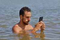 Smartphone at the beach