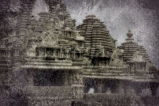 Shikhara crowning temple as mount Kailash for Shiva