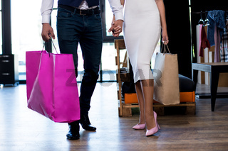 couple in love make shopping together