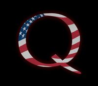 Q Anon deep state conspiracy concept