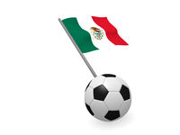 Soccer ball with the flag of Mexico