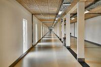 Corridor in a big building