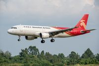 Shenzhen airlines Airbus A320 commercial airplane landing in Chengdu
