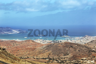 Panoramic view of Mindelo City, Cape Verde