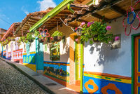 the colorful colonial houses of Guatape