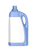 Liquid detergent bottle with blank label