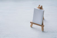 Blank canvas miniature with easel