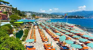 Beach in Portofino Liguria Italy