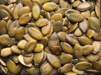 Closeup of organic pumpkin seeds